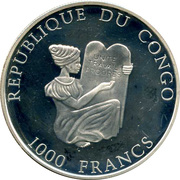1000 Francs CFA (Gabar goshawk) – obverse