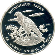 1000 Francs CFA (Gabar goshawk) – reverse