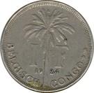 1 Franc - Albert I (Dutch text) – reverse