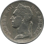 50 Centimes - Albert I (French text) – obverse