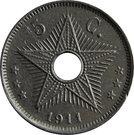 5 Centimes - Albert I – reverse