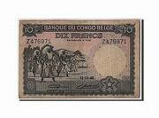 10 Francs Banque du Congo Belge Multicolore – obverse