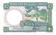 10 Francs Banque du Congo Belge Multicolore – reverse