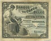 5 Francs (Kinshasa) – obverse