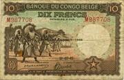 10  Francs (DEUXIEME EMISSION) – obverse