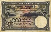 20  Francs (violet; DEUXIEME EMISSION) – obverse