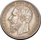 5 Francs - Léopold II – obverse