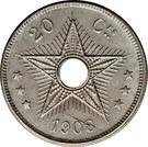 20 Centimes - Léopold II – reverse