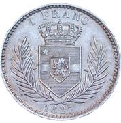 1 Franc - Léopold II – reverse