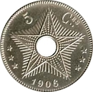 5 Centimes - Léopold II – reverse