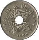 10 Centimes - Léopold II – reverse