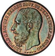 5 Francs - Léopold II (Pattern strike) – obverse