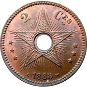 2 Centimes - Léopold II – reverse
