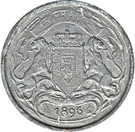 5 Francs - Léopold II (Trial Strike) – reverse