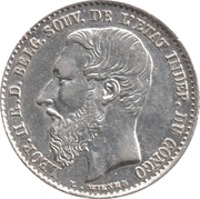 50 Centimes - Léopold II – obverse
