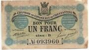 1 Franc CDC Constantine – obverse