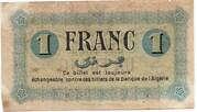1 Franc CDC Constantine – reverse