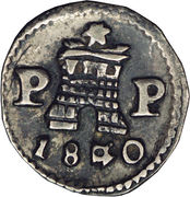 ¼ Real -  obverse