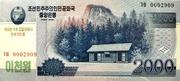 2 000 Won (Kim Il Sung's Birthday) – obverse