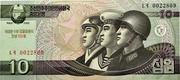 10 Won (Kim Il Sung's Birthday) – obverse