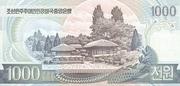 1 000 Won (Kim Il Sung's Birthday) – reverse