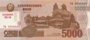 5 000 Won (Workers' Party) – obverse