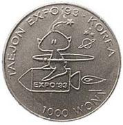 1000 Won (Taejon Exposition) – reverse