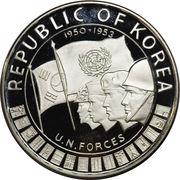 1000 Won (UN Forces in Korea) – reverse
