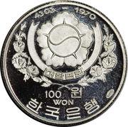 100 Won (Admiral Sun Sin Lee) – obverse