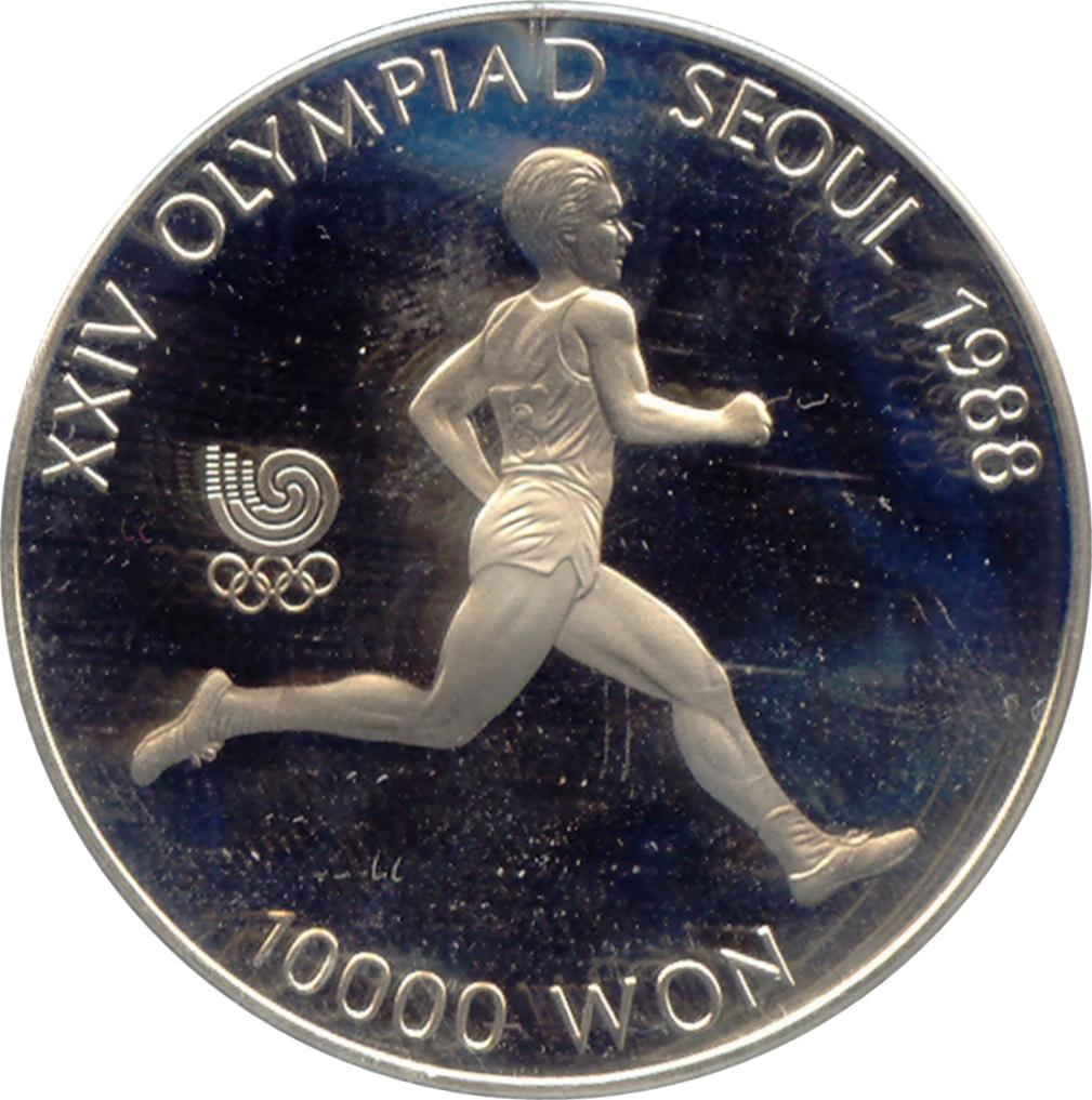 xxiv olympiad seoul 1988 coin 5000 won