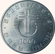 1000 Won (Catholic Church) – obverse