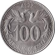 100 Hwan – obverse