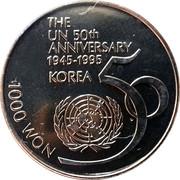 1000 Won (UNO) – reverse