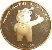 1000 Won (Pyeong Chang 2018 Paralympic Games) – reverse
