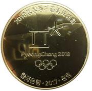 1000 Won (Pyeong Chang 2018 Olympic Winter Games) – obverse