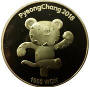 1000 Won (Pyeong Chang 2018 Olympic Winter Games) – reverse