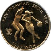 1000 Won (Basketball) – reverse
