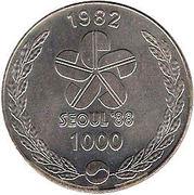 1000 Won (Korean Dancers) – obverse