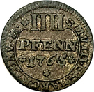 4 Pfennig - Philipp von Spiegel – reverse