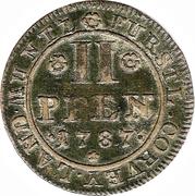 2 Pfennige - Theodor – reverse