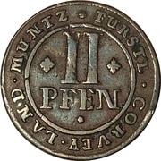2 Pfennig - Florenz von dem Felde – reverse