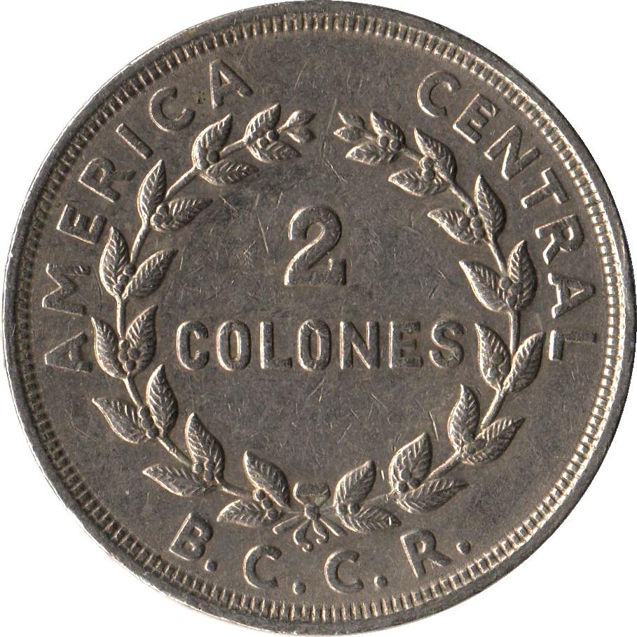 2 Colones Costa Rica Numista