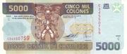 5000 Colones – obverse