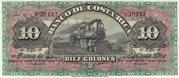 10 Colones (Banco de Costa Rica) – obverse