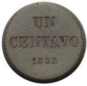 1 Centavo (Piedfort) – reverse