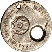 1 Real (Type I Countermark) – obverse