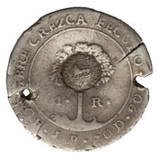 1 Real (Type VI Countermark) – obverse