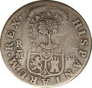 2 Reales (Type III Countermark) – reverse
