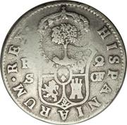 2 Reales (Type III Countermark) -  reverse