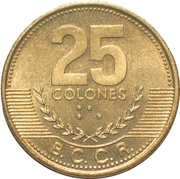 25 Colones (2nd coat of arms; non-magnetic) -  reverse
